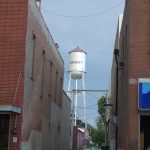 Old water tower in Winterset