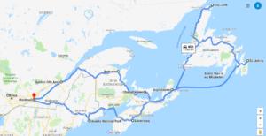 Vores rute for de næste fire uger