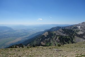 The view from Rendezvous Mountain over Jackson