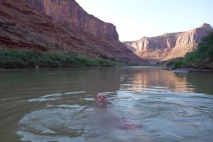 Ole in the Colorado river