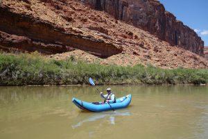 Ole in the kayak